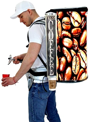 backpack coffee dispenser