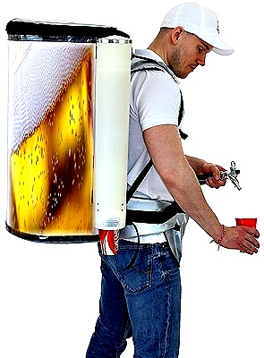 beer dispenser for backpack