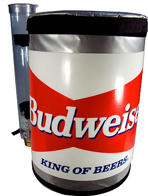 dispaly for budweiser beer