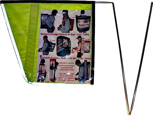 foldable drink bag flag