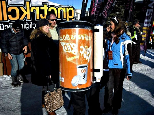 portable icecoffe vending